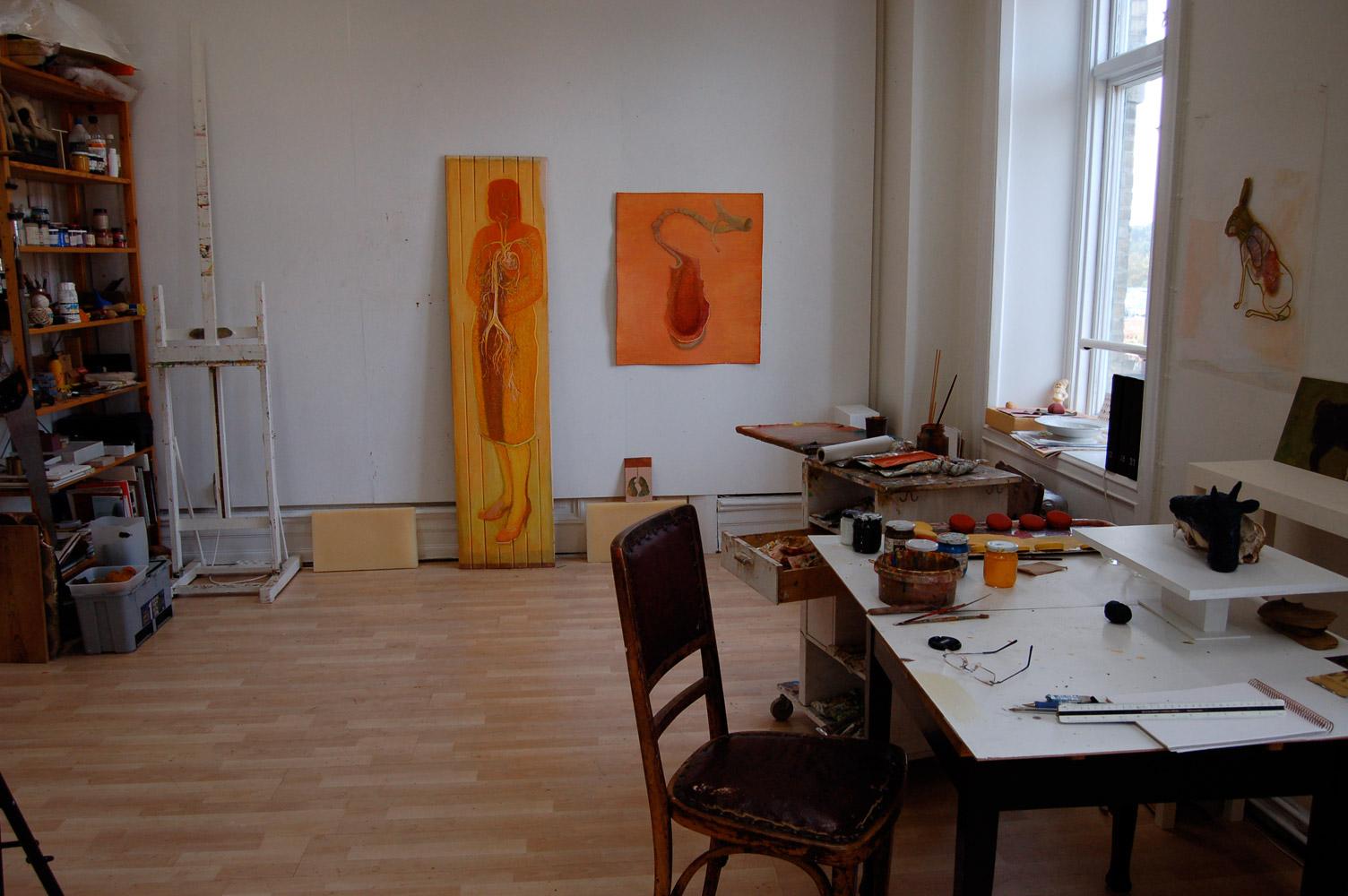 Eva Dahlin - i ateljen